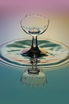 Water Photograph - Crowning The Goblet by Susan Candelario