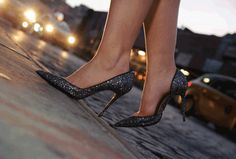 City lights and shoes that sparkle. Christian Louboutin For details: service@s5a.com     Photos: Kristen Somody Whalen