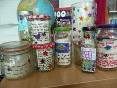 """After reading """"The BFG"""" by Roald Dahl, your students would have fun creating their own dream jars. Inside = descriptive paragraphs about ideal dream. Roald Dahl Activities, Book Activities, School Displays, Classroom Displays, Owl Classroom, Classroom Ideas, The Bfg Book, Bfg Dream Jars, Roald Dahl Day"""