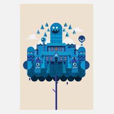 Hello Mr Frank - Treehouse A3 Print