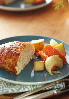 Turkey Meatloaf for Two – This little turkey meatloaf for two is big on flavor and texture, with tangy BBQ sauce and chunks of red potato and sweet onion.