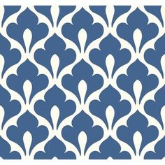 Stylized fleur de lis symbols are screen-printed over a solid backdrop to create this graphic wallpaper pattern. Escape to a tropical island from the comfort of your own home with this colorful yet sophisticated wall decor option. The stylish design Graphic Wallpaper, Retro Wallpaper, Geometric Wallpaper, Wallpaper Roll, Pattern Wallpaper, Leaves Wallpaper, Wallpaper Samples, Design Graphique, Art Graphique