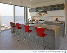 20 Astounding Grey Kitchen Designs | Home Design Lover