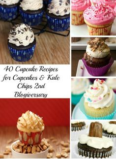 40 of The Best Cupcake Recipes - only the best cupcakes on this list! Chocolate, vanilla, and everything in between! | cupcakesandkalechips.com