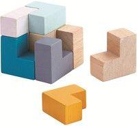 Plan Toys Houten Blokjes In Blikje Wooden Block Puzzle Plan