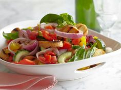 Get Grilled Panzanella Recipe from Food Network