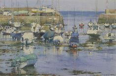Rising tide on a still morning, Aberaron by David Curtis