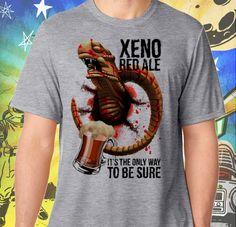 Alien Chestburster Xeno Red Ale Men's Sport Grey T-Shirt
