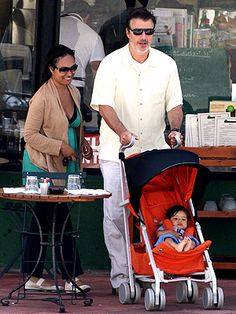 Chris Noth, girlfriend Tara Wilson and son Orion Christopher