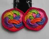 Fruit Loops Crochet Earrings