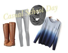"""""""Casual Winter"""" by mar-mar2110 ❤ liked on Polyvore featuring Madden Girl and Frame Denim"""