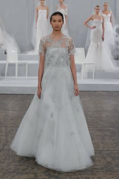 Pin for Later: Every Bride's Dream Just Walked the Runway at Monique Lhuillier Monique Lhuillier Bridal Spring 2015 Photo courtesy of Monique Lhuillier