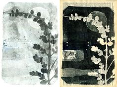 Botanical Silhouettes on Vintage Dictionary Sheets by 88editions