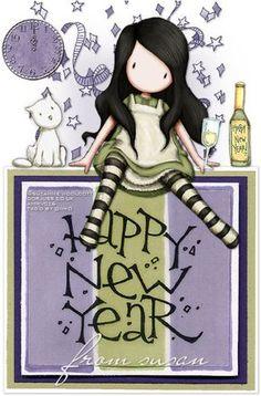 Cute Images, Pretty Pictures, Scrapbook Bebe, Santoro London, Silvester Party, Unique Wallpaper, Atc Cards, Happy B Day, Cute Illustration