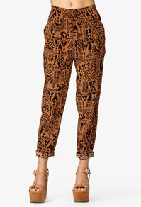 Tribal Print Satin Joggers #Forever21 #Festival2013 #CapsuleCollection omg these are soooo my vees pants<3