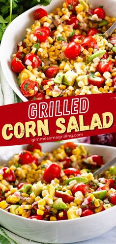 You might want to double or triple this easy recipe for family and friends! Packed with flavor and crunch from fresh vegetables, this Grilled Corn Salad is amazing. Whether brought to potlucks or served alongside any meal, everyone loves this simple, healthy side dish! Healthy Side Dishes, Side Dish Recipes, Easy Healthy Recipes, Easy Family Meals, Easy Meals, Spring Recipes, Easter Recipes, Grilled Corn Salad, Vegan Recepies