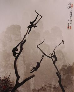 Chinese photographs that look like traditional paintings