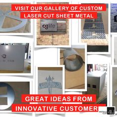 14 different shapes you can customize online in 4 easy steps. #sheetmetal #custom #lasercut #DIY #home projects #Gallery @MetalsCut4U.com/gallery