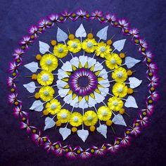 Lo efímero de la naturaleza en mandales de flores (FOTOS)| Ecoosfera