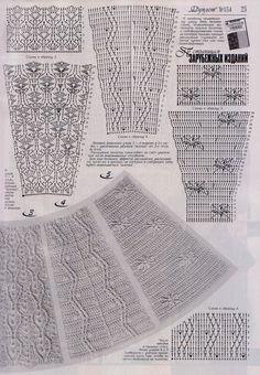 "Photo from album ""Дуплет on Yandex. Crochet Shell Stitch, Crochet Collar, Crochet Chart, Crochet Cardigan, Crochet Motif, Irish Crochet, Crochet Lace, Crochet Stitches, Crochet Skirt Pattern"