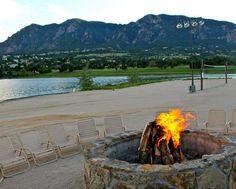 Bonfire on the beach at Cheyenne Mountain Resort (Colorado Springs, CO) - ResortsandLodges.com #travel #vacation #family