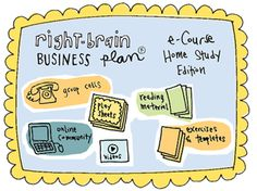 The Right-Brain Business Plan™ is a visual, out-of-the-box approach for creative entrepreneurs. This is NOT business as usual.