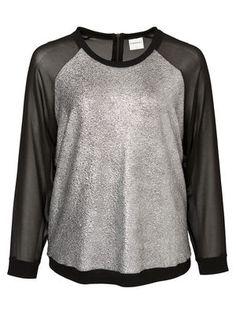 Plus size top from JUNAROSE. Casual bling! #junarose #plussize #top #glitter