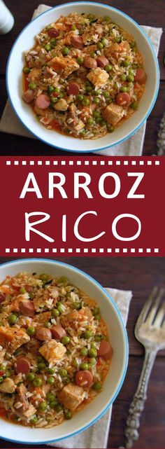 If you like rice and meat you have to try this recipe that combines both ingredients and not only! It's a simple and very easy recipe to prepare! Try this delicious blend of flavors and ingredients! Rice Recipes, Meat Recipes, Real Food Recipes, Cooking Recipes, Healthy Recipes, Healthy Food, Arroz Risotto, Portuguese Recipes, Portuguese Food
