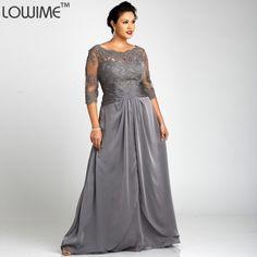Aliexpress.com   Buy 2016 New Open Back Dark Gray Satin Gown Vestido De  Festa Big Plus Size Evening Dress Half Sleeves Dresses For Chubby Women Prom  from ... 7febc06280d2