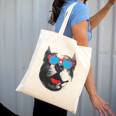 Pitbull In Shades Tote, 12€, now featured on Fab.