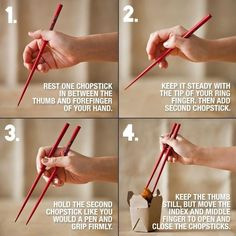 How to eat with chopsticks