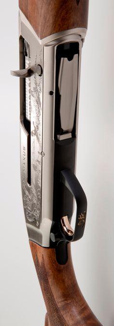 Browning Maxus Ultimate, $1,940 MSRP, Grade III gloss walnut, laser engraved satin nickel finish aluminum alloy receiver, Lightning Trigger, Speed Lock Forearm, Power Drive Gas System, autoloader shotgun