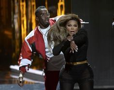 Lil' Kim & P. Diddy onstage at the  BET Awards 2015  Show