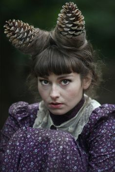 Pine-cone head wear