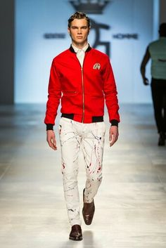 Goose Homme Prorsum look 7 at Mercedes Benz Cape Town Fashion Week SS15