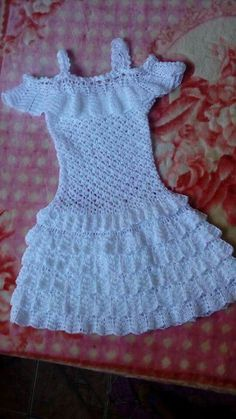 Best 12 baby crochet patterns 2016 Archives – Beautiful Crochet Patterns and Knitting Patterns – SkillOfKing. Crochet Summer Dresses, Baby Girl Crochet, Crochet Baby Clothes, Crochet Baby Dress Pattern, Crochet Doll Dress, Gilet Crochet, Crochet Blouse, Diy Crafts Dress, Little Girl Dresses