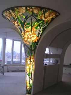 New art nouveau architecture stained glass design Ideas Stained Glass Lamps, Stained Glass Designs, Stained Glass Windows, Mosaic Glass, Mosaic Mirrors, Mosaic Wall, Interior Architecture, Interior And Exterior, Futuristic Architecture