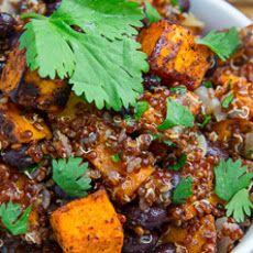 Chipotle Roast Sweet Potato and Black Bean Quinoa Salad Recipe