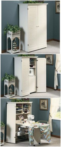 Pretty easy to adapt a cupboard like this !