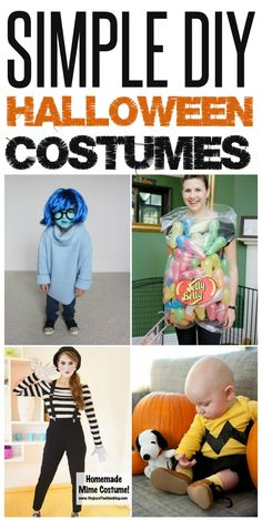 Simple DIY Halloween Costumes that will be sure to be a hit!