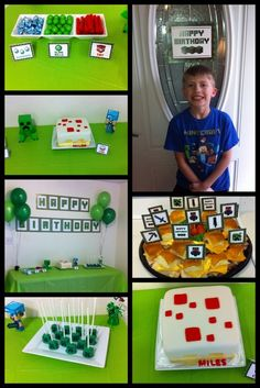 Minecraft Birthday Party Ideas!  See more party ideas at CatchMyParty.com!