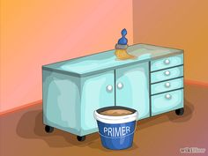 Painting over melamine cabinets