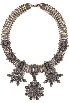 Emilio Pucci - Brass & Crystal Necklace