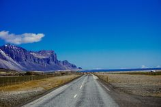 You can drive around the entire country of Iceland within a few days. You'll see everything from geysers to mountains to big cities. See how diverse Iceland is as a country. Iceland Roads, Iceland Travel, Travel Pictures, Travel Photos, Iceland Photos, Mountain Photos, Travel Photography, Learn Photography, Where To Go