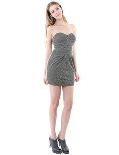 Doublju Womens Unique Slim Fit Front Zipper Mini Dress GRAY M (AWD05)