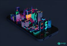 Digital City by Marcin Struniawski, via Behance