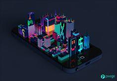 Digital City by Marcin Struniawski, via Behance
