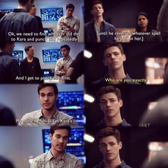 """My name's Mon-El. I'm Kara's 'friend'"" - Mon-El, Barry, Cisco and HR #TheFlash (by IABT)"