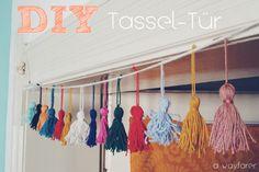 DIY Tassel-Tür: schmücke deine Tür mit Troddeln! Bohemian Zimmerdeko.