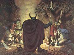 Tolkien Calendar June 1976 Captured by the Orcs, Brothers Hildebrandt